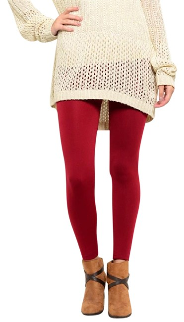 Preload https://img-static.tradesy.com/item/20568598/red-high-waisted-warm-body-shaping-footless-brushed-fleece-leggings-size-6-s-28-0-1-650-650.jpg
