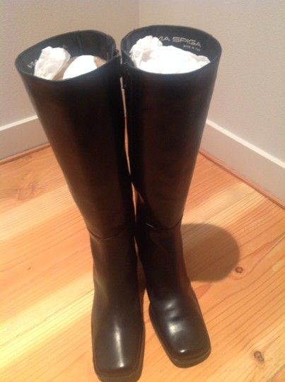 Via Spiga Black Soft Leather Boots NEW! Made in Italy Black Boots