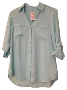 Express Portofino Top Light Blue
