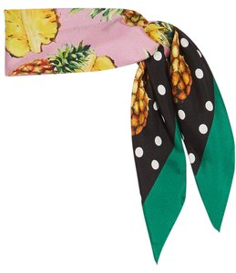 Dolce&Gabbana Spring '17 Silk Pineapple and Polka Dot Scarf