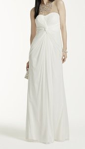 David's Bridal Illusion Neckline Wedding Dress