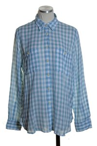 Denim & Supply Button Down Shirt Blue White