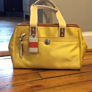 Coach Satchel in bright yellow