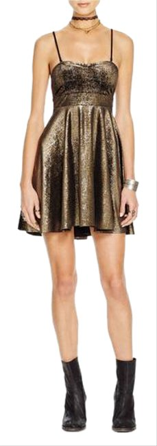 Preload https://item3.tradesy.com/images/free-people-black-gold-shattered-foil-metallic-fit-and-flare-short-cocktail-dress-size-4-s-20568797-0-1.jpg?width=400&height=650