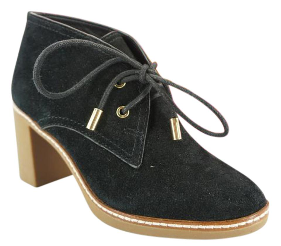 b5125c3dc73 Tory Burch Black Suede Hilary Desert Lace Up Ankle Boots Booties ...