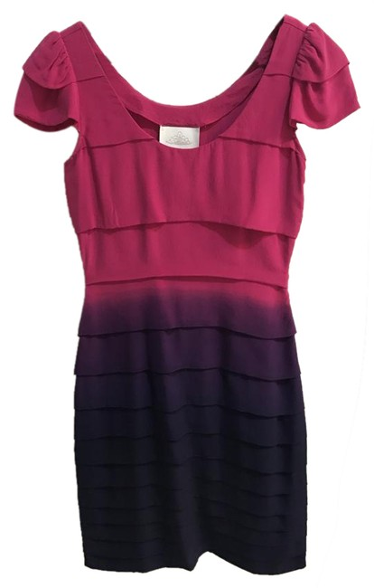 Preload https://img-static.tradesy.com/item/20568825/madison-marcus-multi-color-pink-purple-silk-ombre-sleeve-mid-length-night-out-dress-size-2-xs-0-1-650-650.jpg