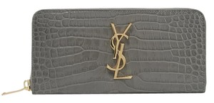 Saint Laurent Saint Laurent Large Monogram Wallet Patent Croc