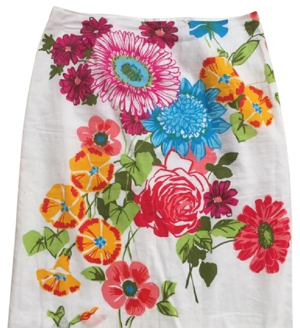 Preload https://item2.tradesy.com/images/trina-turk-white-colorful-knee-length-skirt-size-8-m-29-30-20568951-0-1.jpg?width=400&height=650