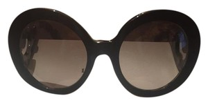 Prada Black/ Ivory 55 mm Round