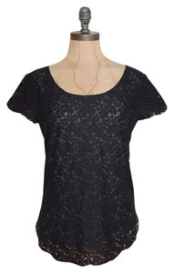 Talula Betsy Lace Lace Floral Top BLACK