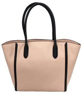 Kate Spade Forster Pebble Leather Pink Black Tote in SOFT ROSETTA(PINK/BLACK)
