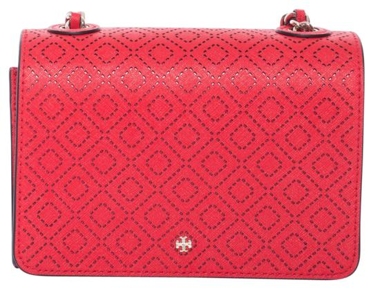 Preload https://item1.tradesy.com/images/tory-burch-robinson-perforated-vermillion-leather-shoulder-bag-20569125-0-1.jpg?width=440&height=440
