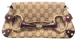 Gucci brown/beige/purple Clutch