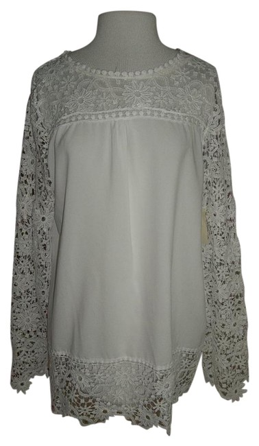 Preload https://img-static.tradesy.com/item/20569144/white-lace-unknown-tags-torn-out-blouse-size-12-l-0-1-650-650.jpg