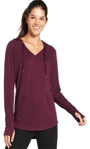 Ideology Ideology Women's V-Neck Hoodie Pullover, Sweet Fig, M
