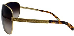 Tiffany & Co. Gold Shield Sunglasses w/ Gradient Brown Lens TF 3035 6002/3B