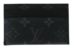 Louis Vuitton PORTE CARTES DOUBLE wallet eclipse Monogram canvas