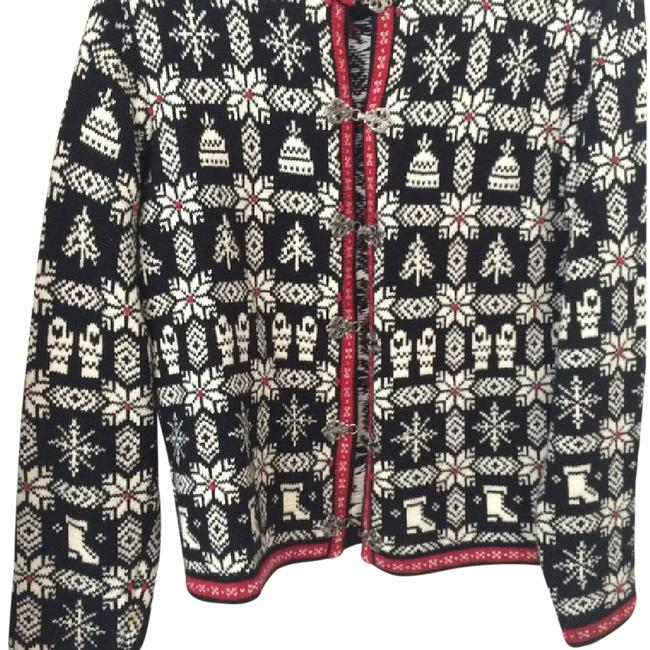 Preload https://img-static.tradesy.com/item/20569201/talbots-black-white-red-sweater-cardigan-size-petite-8-m-0-1-650-650.jpg