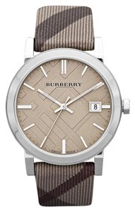 Burberry Nwt burberry women's the city 39mm date smoke check watch