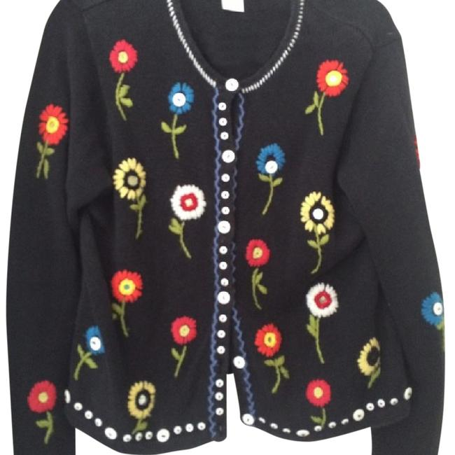Preload https://item4.tradesy.com/images/susan-bristol-black-multicolored-mirrors-sweater-cardigan-size-8-m-20569263-0-1.jpg?width=400&height=650