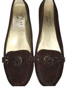 Anne Klein Loafers Suede Brown Flats