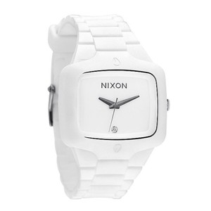 Nixon NIXON RUBBER PLAYER WHITE ANALOG WATCH