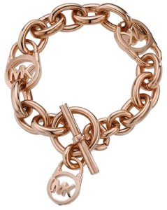 Michael Kors Michael Kors rose gold chain toggle bracelet