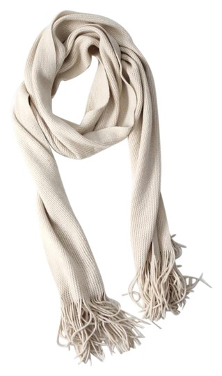 Other Ribbed Knit Scarf with Tassels