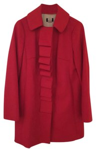 J.Crew Wool Ruffle Trench Coat