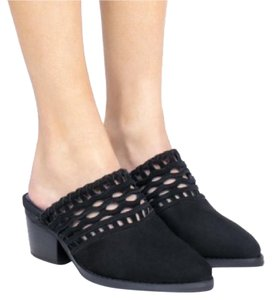 Jeffrey Campbell black Mules