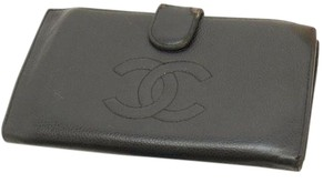Chanel Chanel Caviar Black Long Folding Wallet