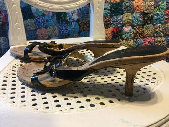 Guess By Marciano Cork Size 8 black Sandals
