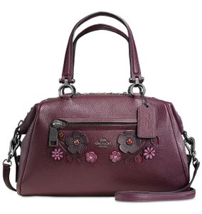 Coach Satchel in Oxblood