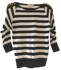 Michael Kors Gold Hardware Striped Sweater