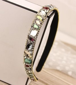 Multi Colored Marquise Gem Crystal Headband Hair Accessory