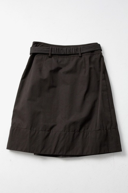 Max Mara Pleated Belted A-line Skirt Black
