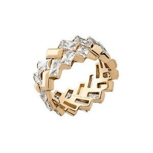 Michael Kors Michael Kors Crystal, Cubic Zirconia and Stainless Steel Ring