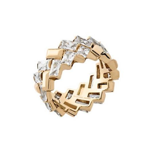 Preload https://item5.tradesy.com/images/michael-kors-gold-crystal-cubic-zirconia-and-stainless-steel-ring-20569774-0-0.jpg?width=440&height=440