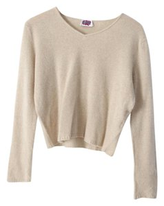 Leggiadro Cashmere V-neck Cropped Crop Sweater