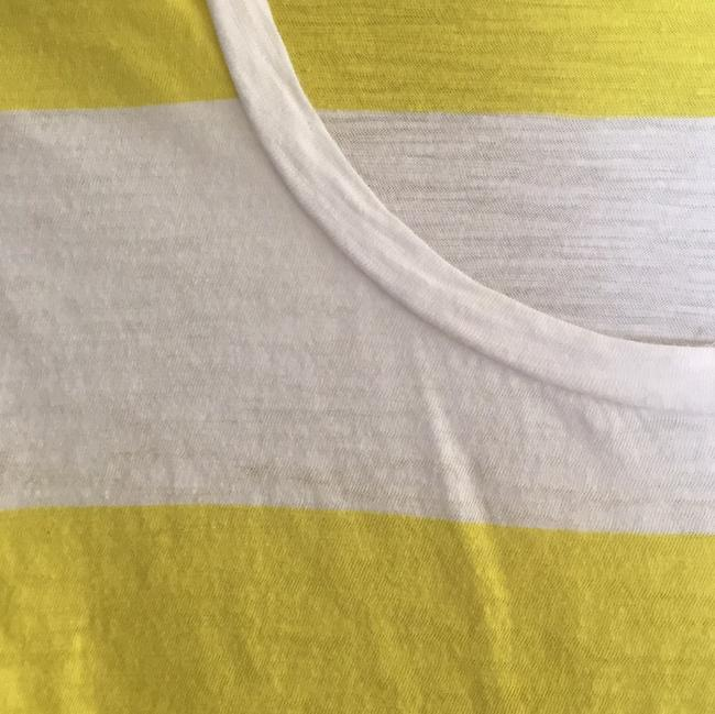 PacSun Striped Pocket Casual T Shirt white and yellow