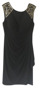 Xscape Lbd Cocktail Gold Beading Dress