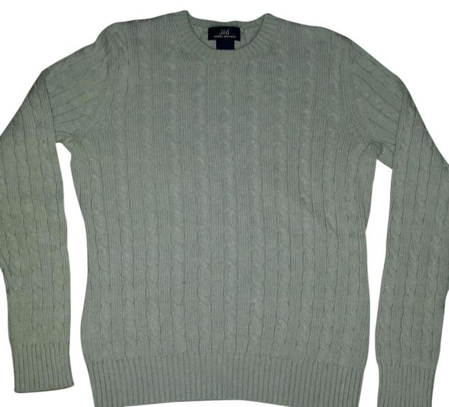 Preload https://item1.tradesy.com/images/green-cable-knit-sweaterpullover-size-6-s-20570020-0-3.jpg?width=400&height=650