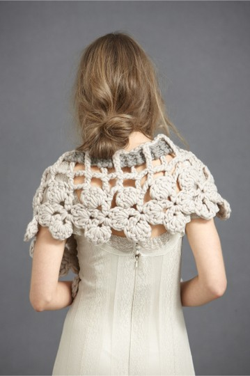 Anthropologie Blush and Grey Stitched Labyrinth Collar