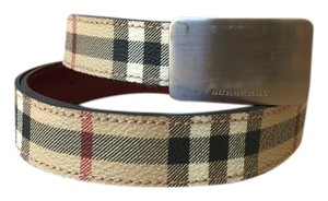 Burberry Burberry Beige Classic Check Leather Belt