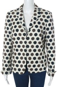 Akris Punto Cotton White, Black, Brown Blazer