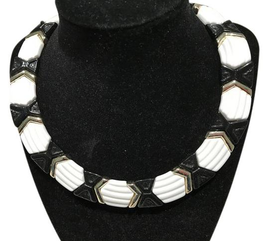 Preload https://item2.tradesy.com/images/black-and-white-geometric-15-with-gold-tone-accents-necklace-20570171-0-3.jpg?width=440&height=440