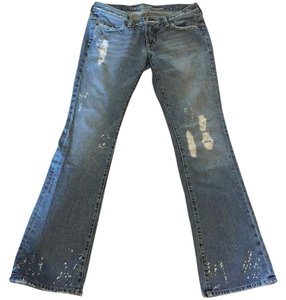 Guess Flare Leg Jeans-Distressed