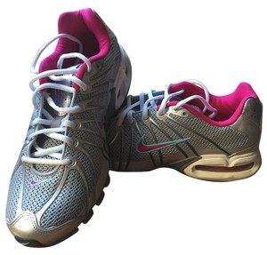 Nike Metallic silver with hot pink lining Athletic