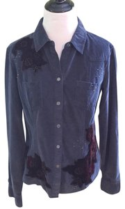 Express Button Down Shirt Blue and Purple