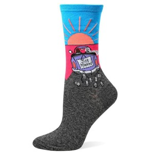 "Hot Sox ""Just Married"" Crew Socks (9-11)"